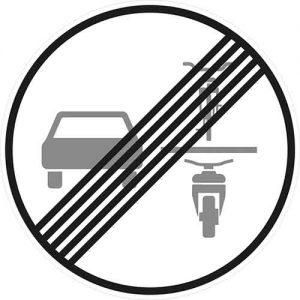 StVO Neues Verkehrszeichen - Überholverbot Zweiräder / Aufhebung
